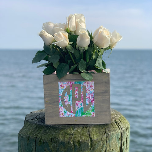 Monogrammed Flower Box