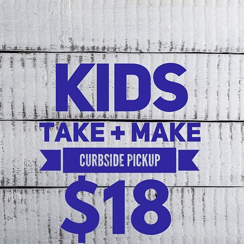 Kids Make + Take - curbside pickup