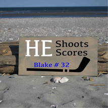 He shoots he scores with name/number and number