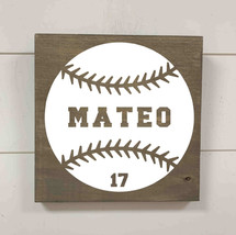 Kids baseball with name and number