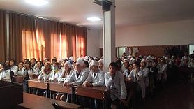 キルギス医科専門学校での介護インターンシッププレゼン