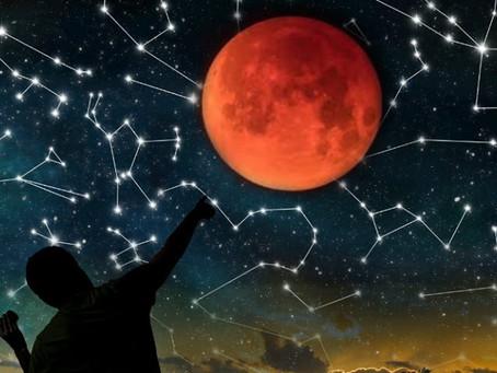 Pleine lune et Éclipse du 21 Janvier 2019 à 6 heures 11, heured'Europe et Minuit 11 pour le Qué