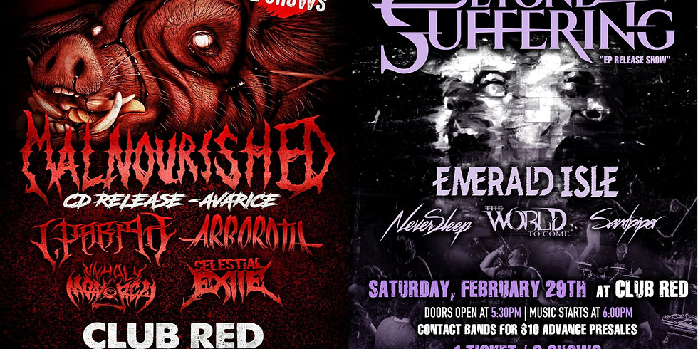 Malnourished / Beyond Our Suffering Album Release Show