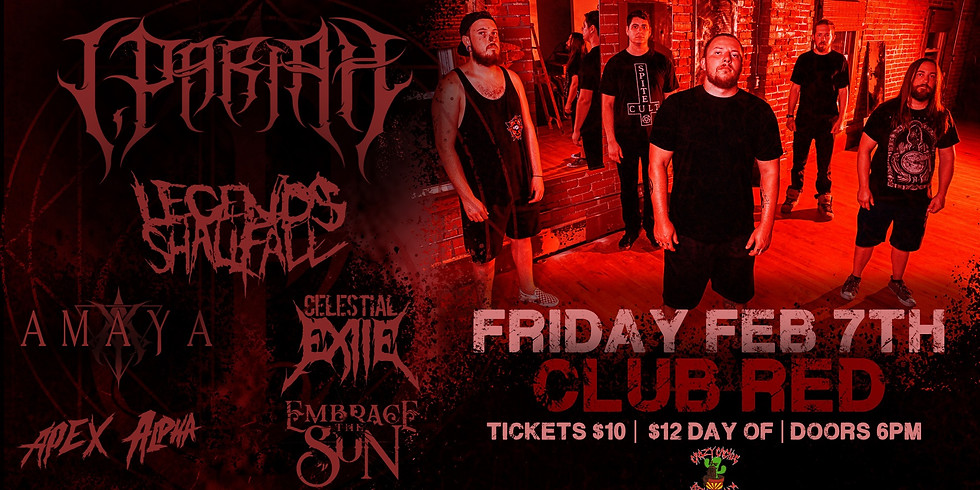 TEST DO NOT USE - I, Pariah at Club Red with Special Guests!