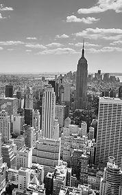 Black & White New York Panorama Wall Mur