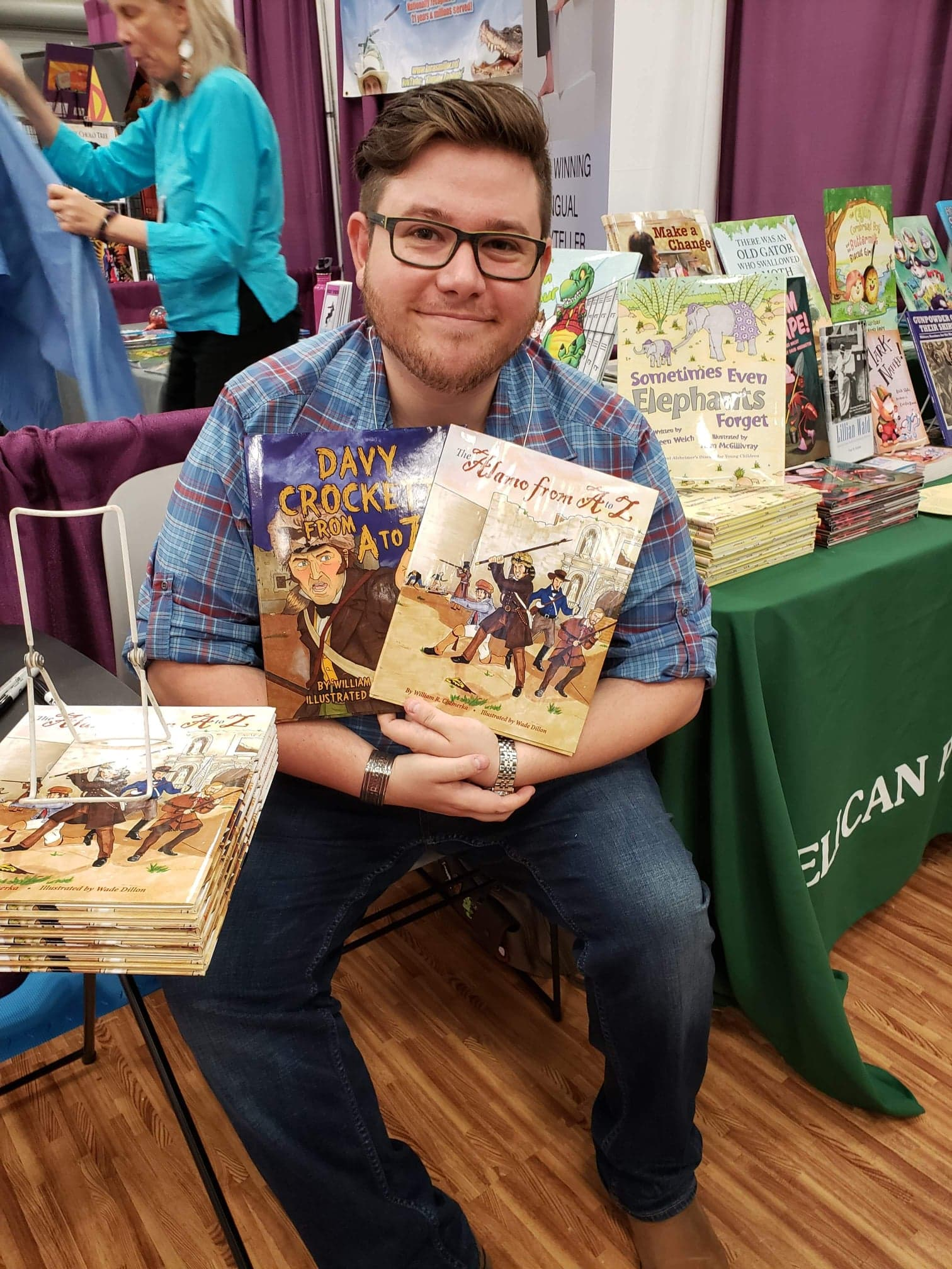 Signing books at the TXLA