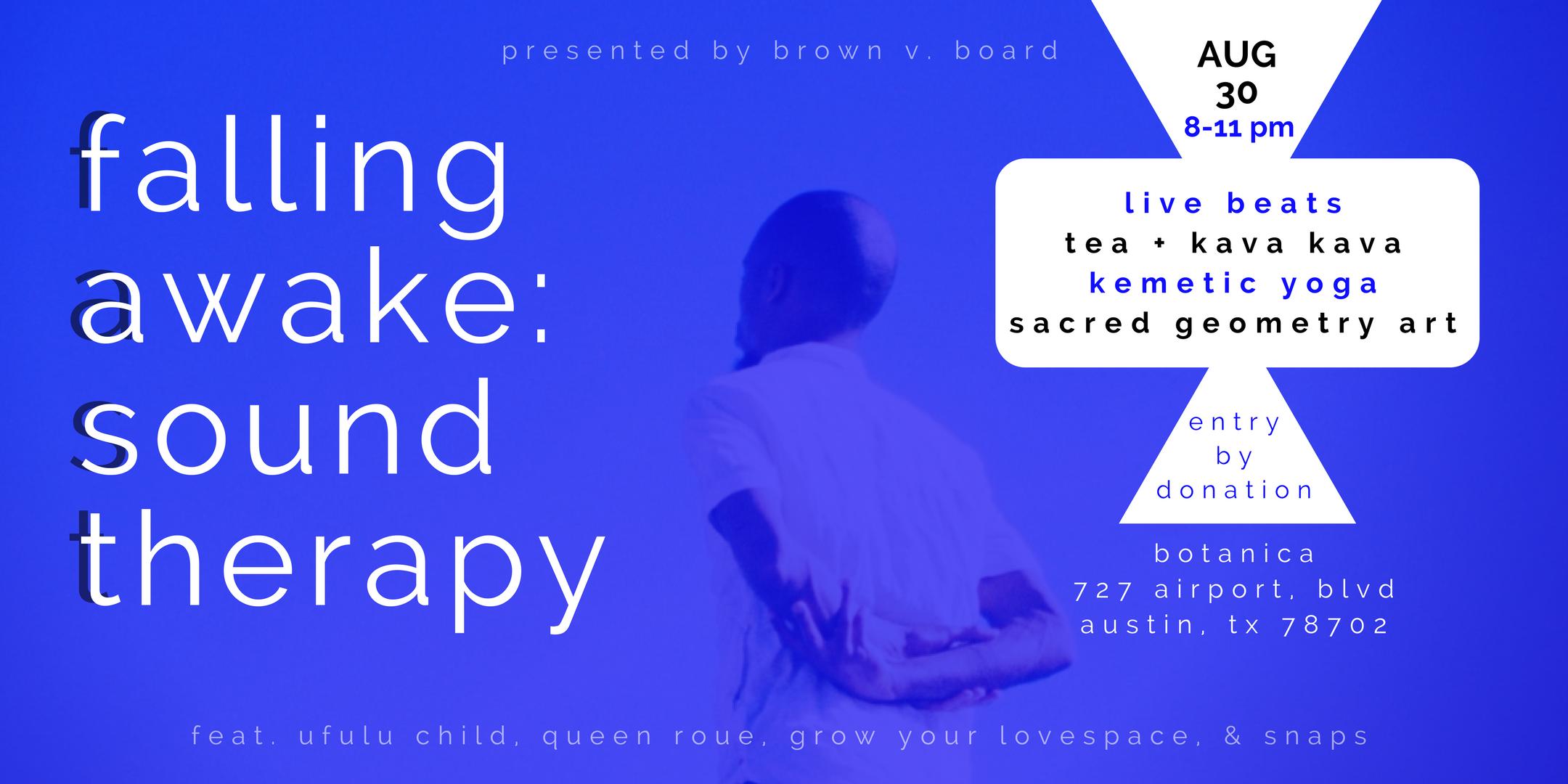 Falling Awake: Sound Therapy flyer