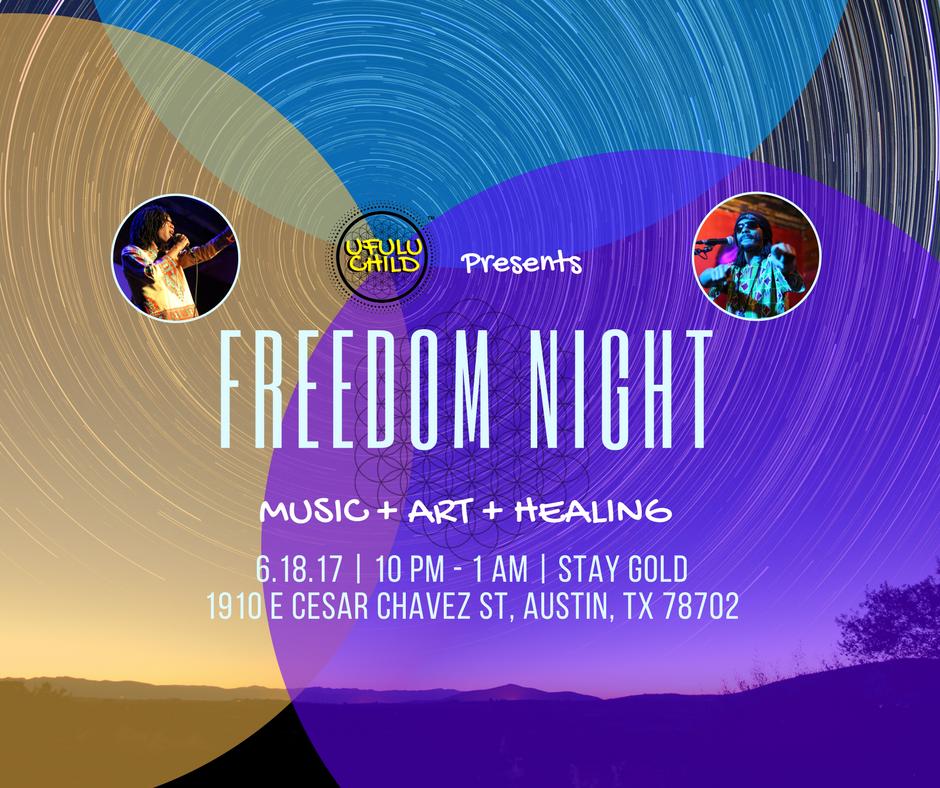 Ufulu Child Freedom Night Flyer