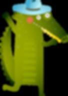 cocodrilo de dibujos animados