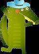 Cartoon krokodýl