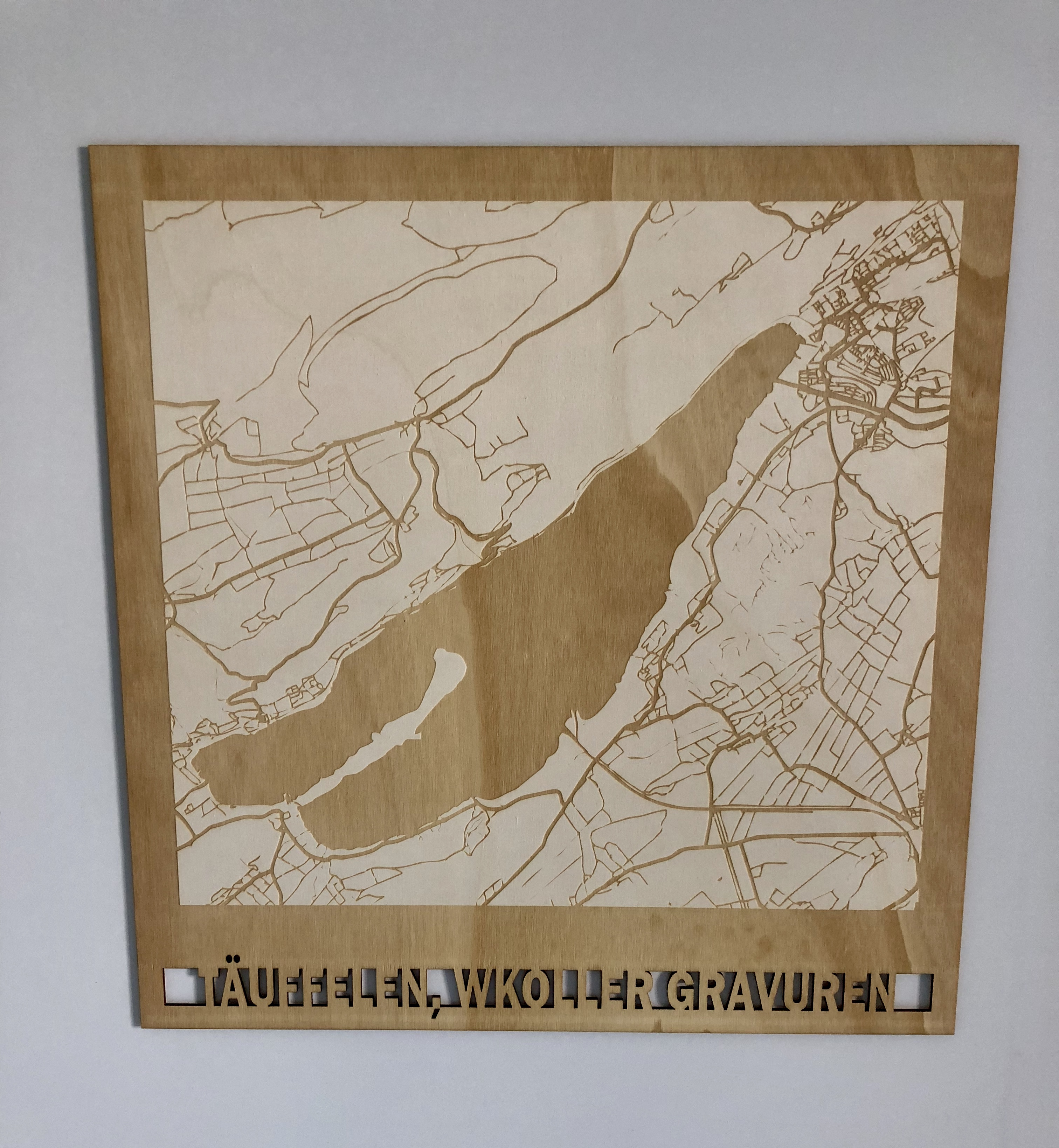 City Maps Lasergravur