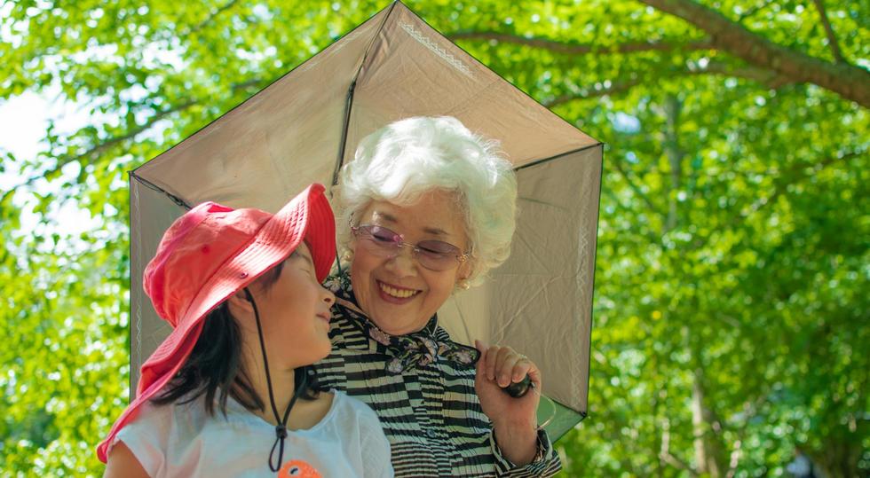 #春 祖母と孫、ちょっと似てる。