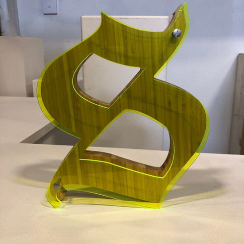 Acrylic + Wood Digital Fabrication