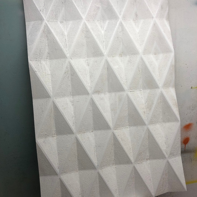 Routered MDF For Projection Mapping