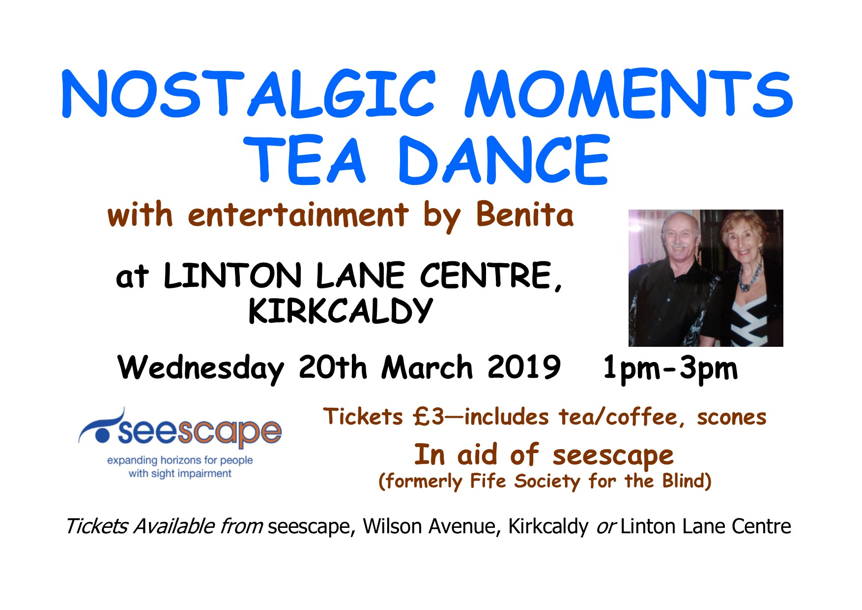 Seescape tea dance poster