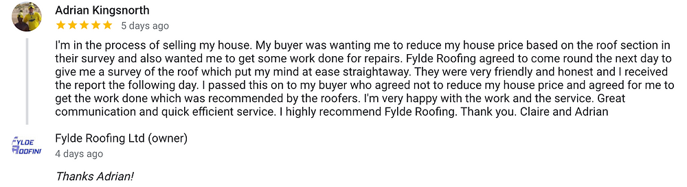fylde roofing review