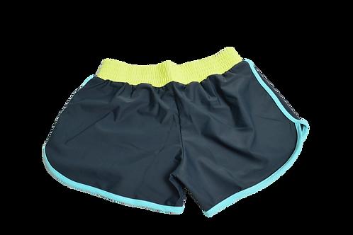 blue yellow shorts