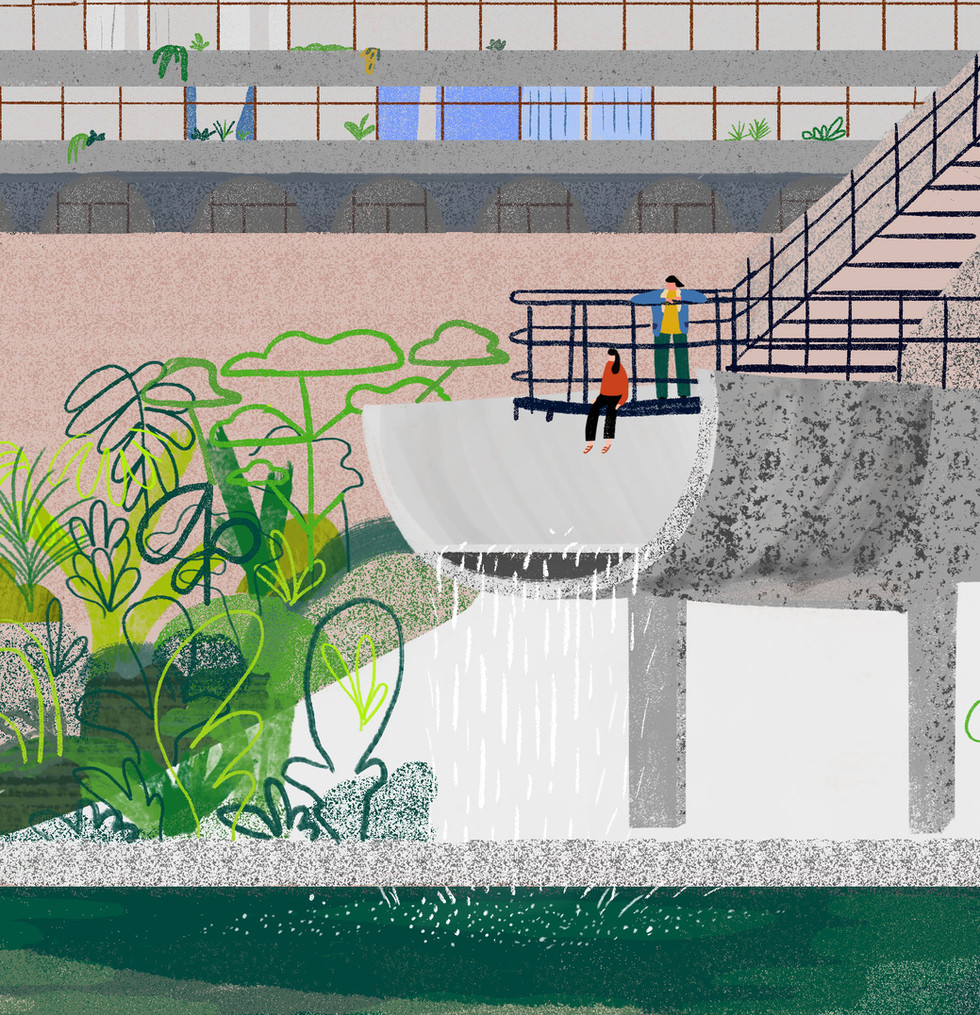 Barbican Waterfall