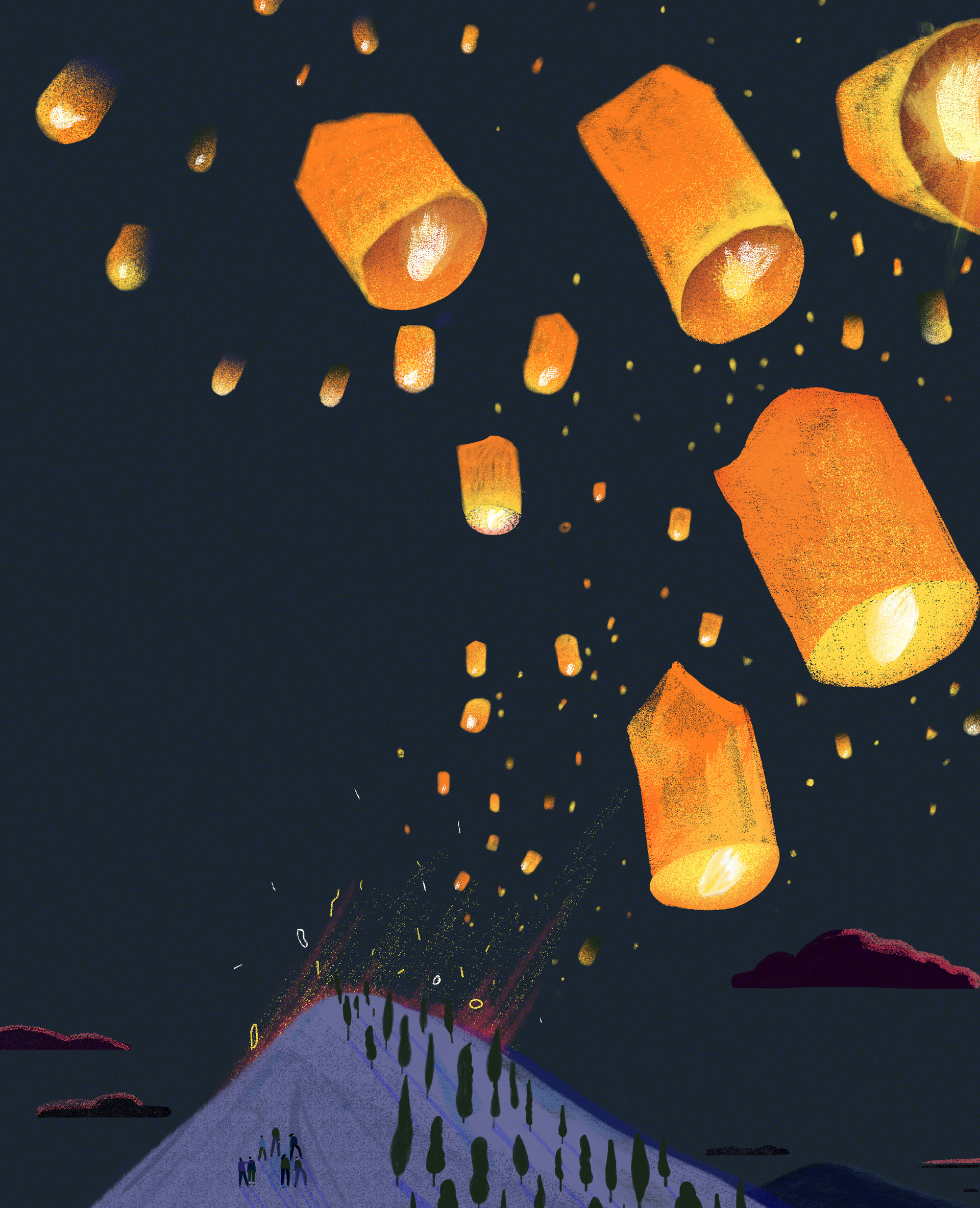 One thousand lanterns