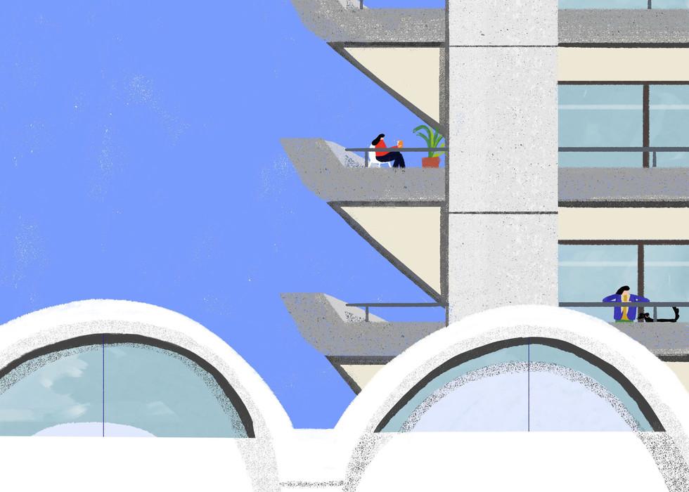 Barbican Estate Balcony