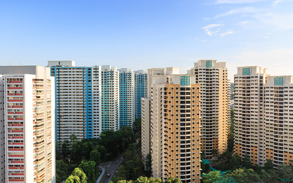 Singapore high density  residential buil