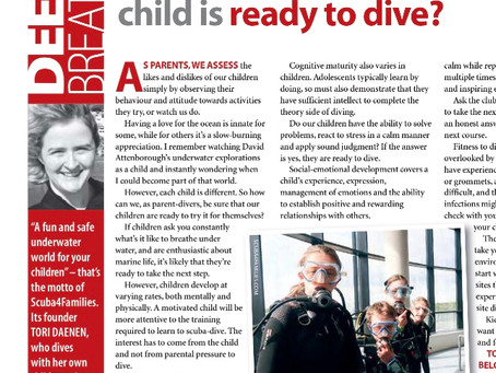 First article published in the February addition of Diver magazine 2020