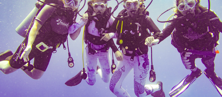Family Diving at Turks & Caicos, Beaches