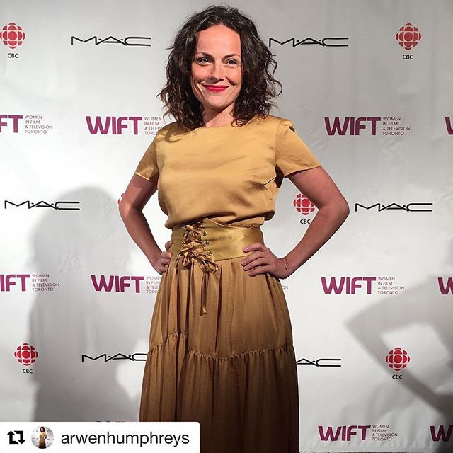 Arwen Humphreys wears 'WREN' corset belt to TIFF