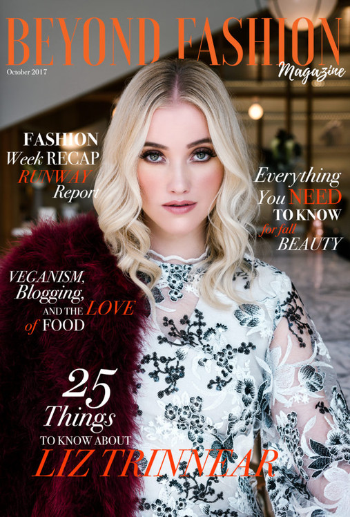 """Liz Trinnear on the cover of BEYOND FASHION in FW 17 """"KNOX"""""""