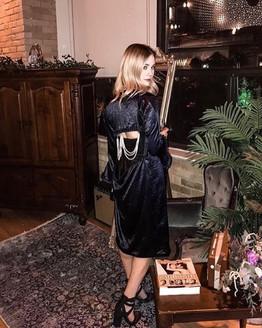 Tessa Mossey wears FW18/19 'EMBERLY' dress at TIFF