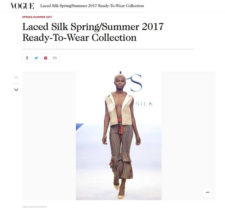 VOGUE UK covers the LACEDSILK Spring Summer 2017 Collection from Vancouver Fashion Week