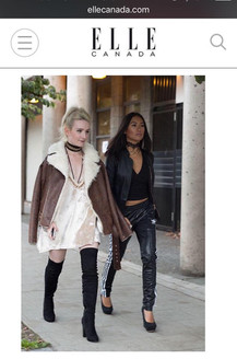 """Designer Jessie (seen in the SS 17 Pearl Dust dress) and Assistant Belina spotted in Elle Canada's post, """"West Coast Street Style from Vancouver Fashion Week"""""""