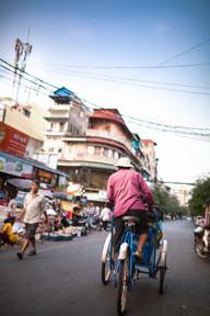 Early Morning walk Phnom Penh, Cambodia