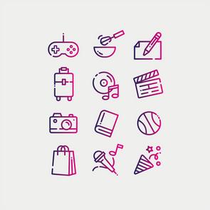 Icons Hobbies