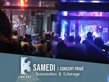 Sonorisation, eclairage   concert privé