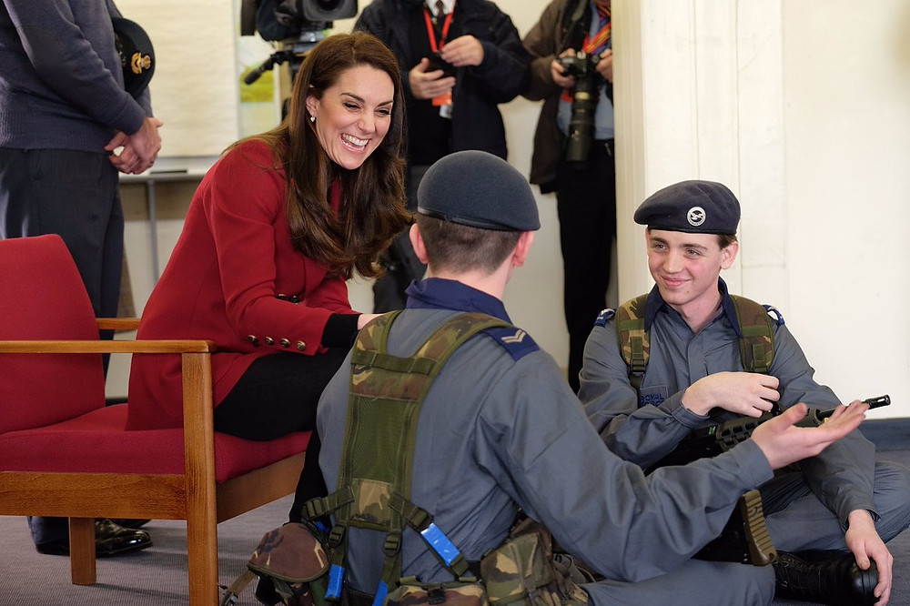 Sgt Harvey completing Weapons Handling training with The Duchess of Cambridge.