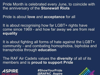 We value diversity and inclusion in the RAF Air Cadets!