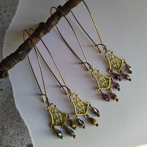 Ornate earrings.