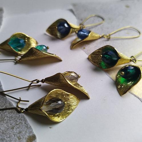 Long Calla Lily earrings.