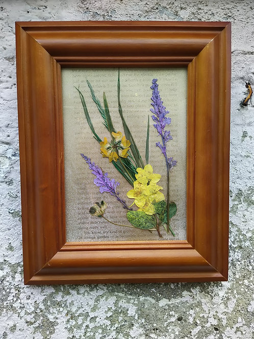 Wildflowers. Framed botanical art