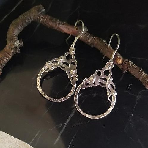 Sea splatter earrings. Sterling silver