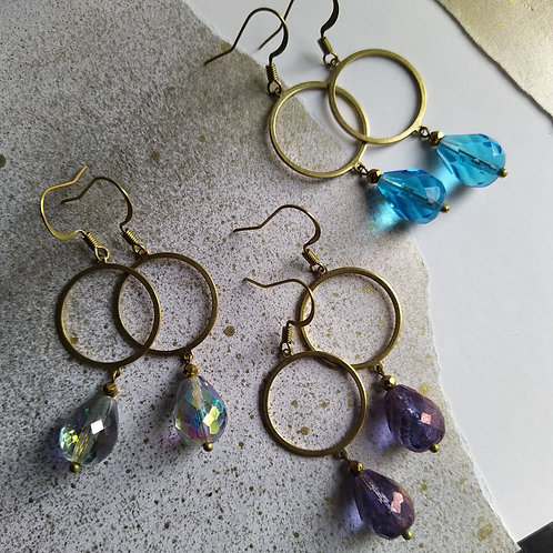 Circle with a Drop earrings