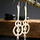 Thumbnail: Ripples on the water earrings. Sterling silver