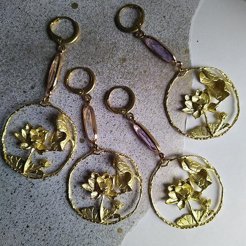 Pond earrings.