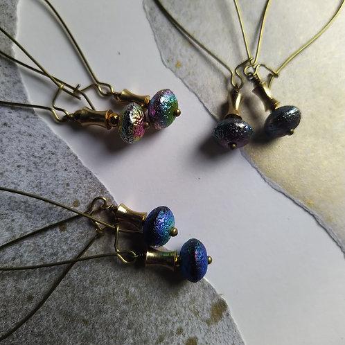Flying saucer earrings. Style 2