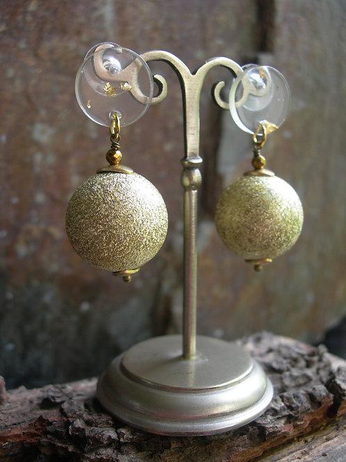 Orb studs. Gold shimmer.