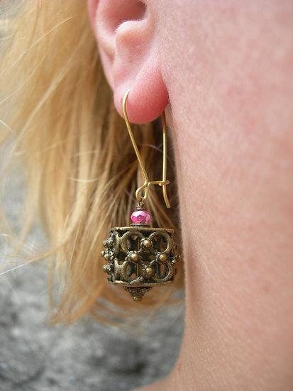 Round Venetian Lantern earrings