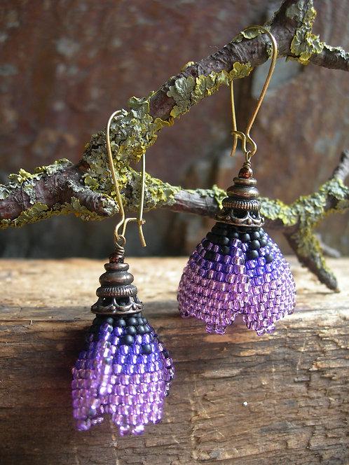 Poppy earrings. Lilac