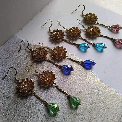 Water lily earrings. Style 1