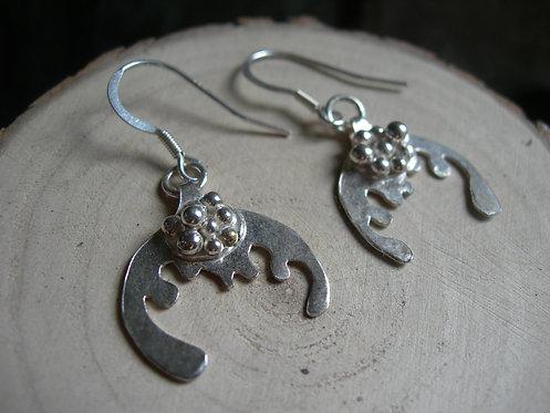 Splash earrings. Sterling silver